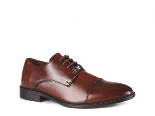 Joseph Abboud Men's Plain Formal Lace Up Shoe – Brown