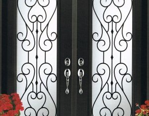 Chesterfield Wrought Iron Door