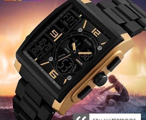 Skmei New Skmei Digital Gold Dial Men's Watch