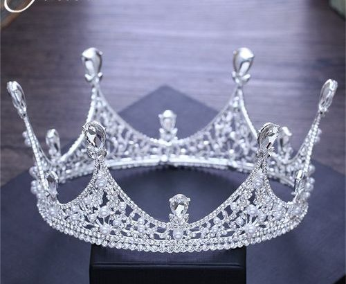 Luxury King Full Round Crown Tiara?Crystal Wedding Bridal Party Pageant Prom
