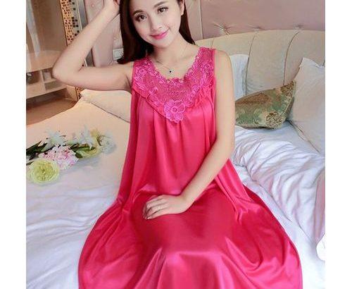 Night Gown – Fuschia Pink
