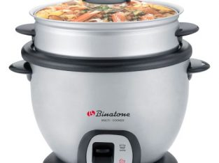 Binatone Multi-cooker With Rice Cooking, Stir Fry & Steam Functions 2.2Litres – Grey