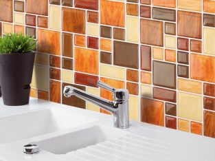 3D Tile Brick Mosaic Wall Sticker Self-adhesive Kitchen Bathroom Home Decor