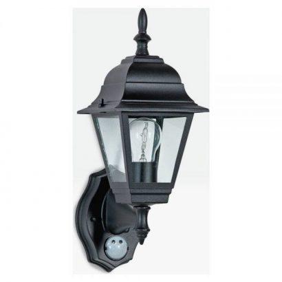 Argos Home Classic 4 Panel Black PIR Lantern