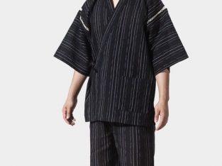 Japan Style Pyjama Sets Yukata Kimono Nightwear HalfBlack L