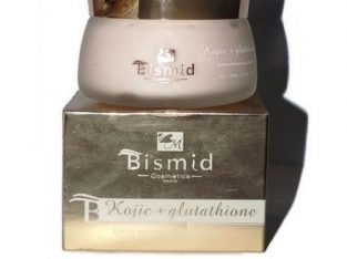 Bismid Cosmetics Extra Whitening Kojic + Glutathione Cream – 150g; 1.76 FL.Oz