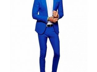 Men's Suit- Royal Blue Plus 1 Free Quality Tie