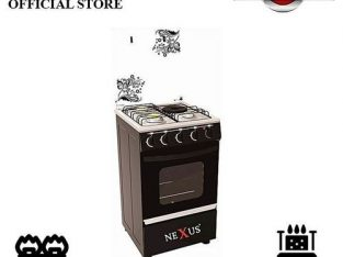 Nexus 4-Burner Gas Cooker GCCR-NX-5055B (3 + 1) – Black
