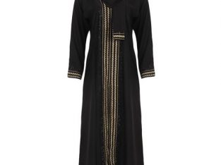 Abaya – Jalamia Embroided Maxi Dress – Black