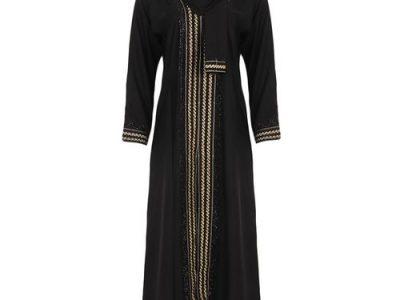 Abaya – Jalamia Embroided Maxi Dress – Black