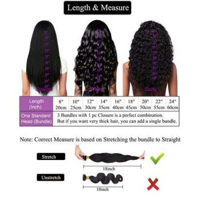 Wigs Human Hair- Straight Hair Bundles With Closure 3 Bundles With 4×4 Lace Closure 100% Unprocessed