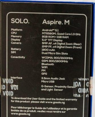SOLO Aspire M Smartphone