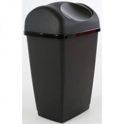 Tontarelli 25 Litre Swing Top Bin – Black