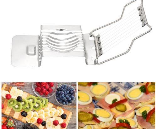 Kitchen Stainless Steel Egg Slicer Cutter Tool