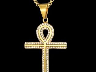 Hip Hop Jewelry Stainless Steel Ancient Egyptian Anka Cross