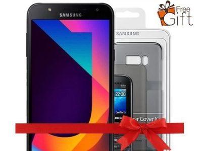 Samsung Galaxy J7 Neo (2GB,16GB ROM) 13MP + 5MP, Android 7.0 Nougat 4G Dual SIM Smartphone + Free E1