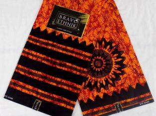 6 Yards 100% Cotton Ankara Batik Design