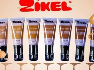 Zikel HD Foundation – Hot Amber, Golden Caramel White Cream – Mocha