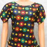 Trendy Ankara Top With Chiffon Tail Back