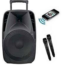 Sound Prince SP1280 Public Address System Rechargeable With Two Wireless