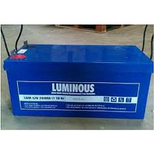 Luminous 200AHS 12Volts Solar Battery