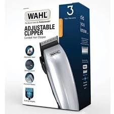 Wahl Adjustable Mains Hair Clipper Kit Silver / Black