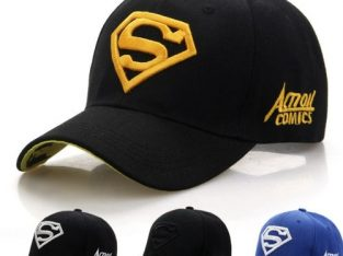 Senior Men Quality Baseball Facecap/Face Cap With Adjustment Strap.LOOK MORE SMART..Black