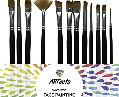 Art Paint Brush Set for Watercolor, Acrylics, Oil & Face Painting – by ARTacts