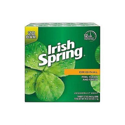 Irish Spring Deodorant Soap, X 20 Pcs