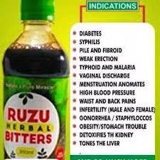 Ruzu Herbal Bitters For Strong Erection – 350ml