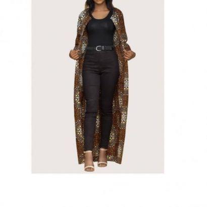 Trendy Kimono Jacket – Black&Gold