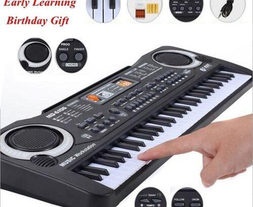 61 Keys Black Digital Music Electronic Keyboard Key Board