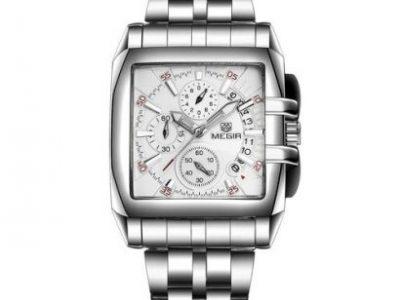 Megir MEGIR Male Date Chronograph Watch Men Luxury Brand Stainless Steel Business Watch Waterproof Q