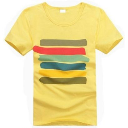 Fashion short sleeve t-shirt for men.The bright color/ pattern makes it cool and eye-ca