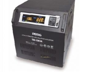 Prag 15kva Relay Voltage Stabilizer Single Phase 95V-280V Cabinet