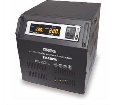 Prag 15kva Relay Voltage Stabilizer Single Phase 95V-280V Cabinet
