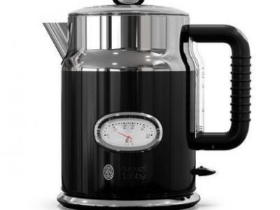 Russell Hobbs 1.7 Litre Retro Classic Noir Cordless Electric Kettle Black..