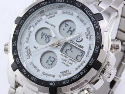 Quamer Men Quartz LED Digital Watch