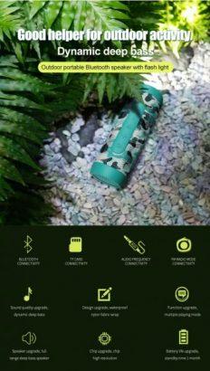 Zealot S22 Wireless Bluetooth Speaker With Flashlight (2019 Model)