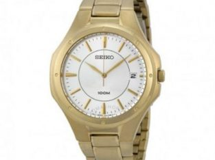 Seiko Seiko Silver Dial Gold-tone Stainless Steel Men's Watch SGEF64.