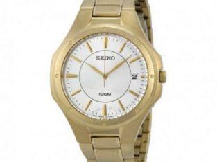 Seiko Seiko Silver Dial Gold-tone Stainless Steel Men's Watch SGEF64.