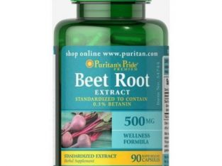Puritan'S Pride Beet Root Extract 500mg – 90 Capsules
