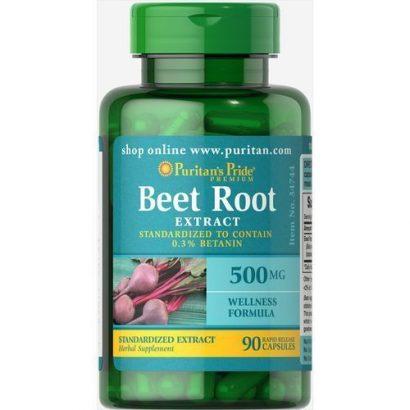 Puritan'S Pride Beet Root Extract 500mg – 90 Capsules