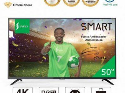 Syinix 50″ Inch Android 4K UHD Smart LED TV – T730U Series