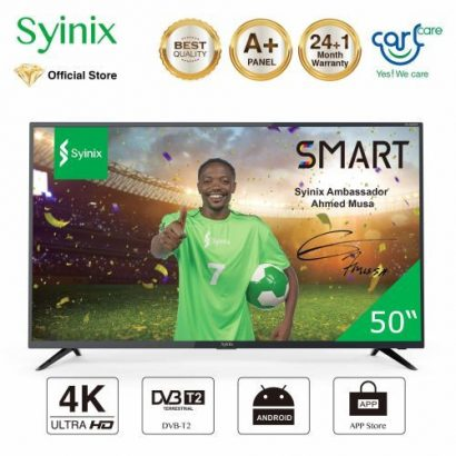 Syinix 50″ Inch Android 4K UHD Smart LED TV – T730U Series