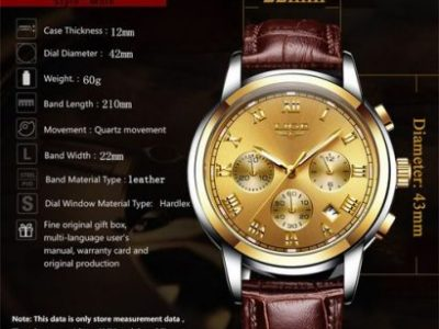 Lige Men Sports Waterproof Date Analogue Quartz Men's Watches Chronograph Business Watches For