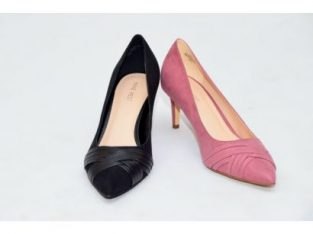 SOFRESH TIMELESS PLEAT DETAIL MID HEEL SHOE