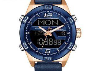 Naviforce Men Fashion Sports Watches Men's Waterproof Quartz Date Clock Man Leather Army