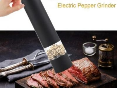 Stainless Steel Electric Kitchen Pepper Grinder Cordless Battery Powered Adjustable Salt Mill