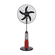 Century 18″ Rechargeable Fan+Remote+LED Light RED/BLACK